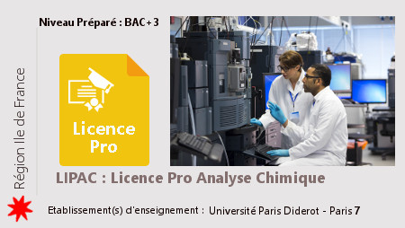 Licence Pro LIPAC : Analyse Chimique