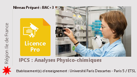 Licence Pro IPCS : Analyses Physico-Chimiques