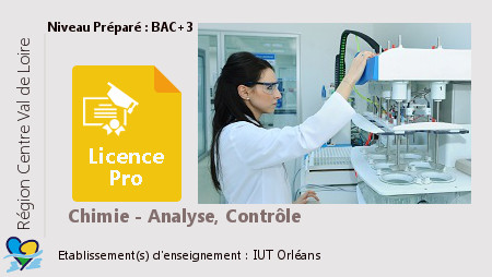 Licence Pro Chimie-Analyse, Contrôle