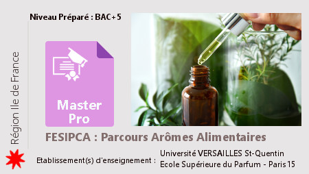 Master  FESIPCA parcours Arômes alimentaires